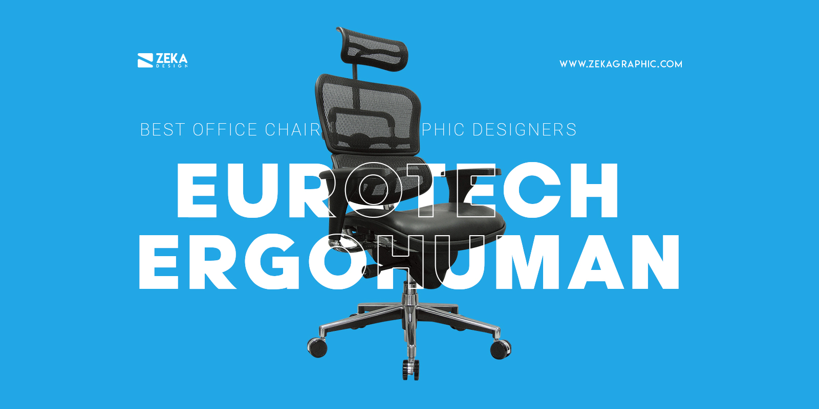 Eurotech Ergohuman Best Office Chair With Headrest For Graphic Designers