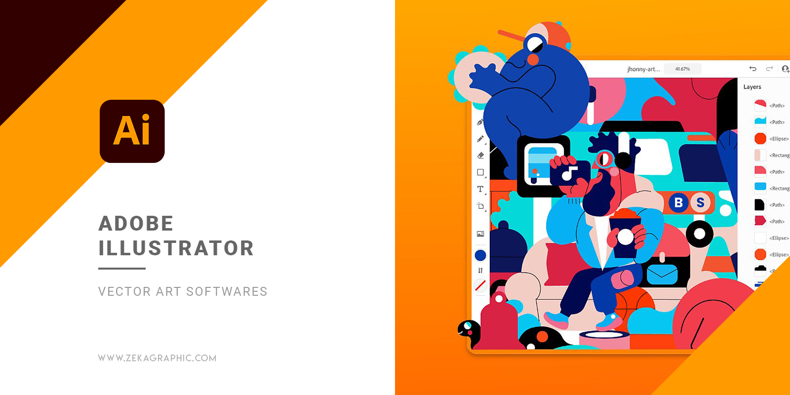 Adobe Illustrator Graphic Design Software For Vector Art