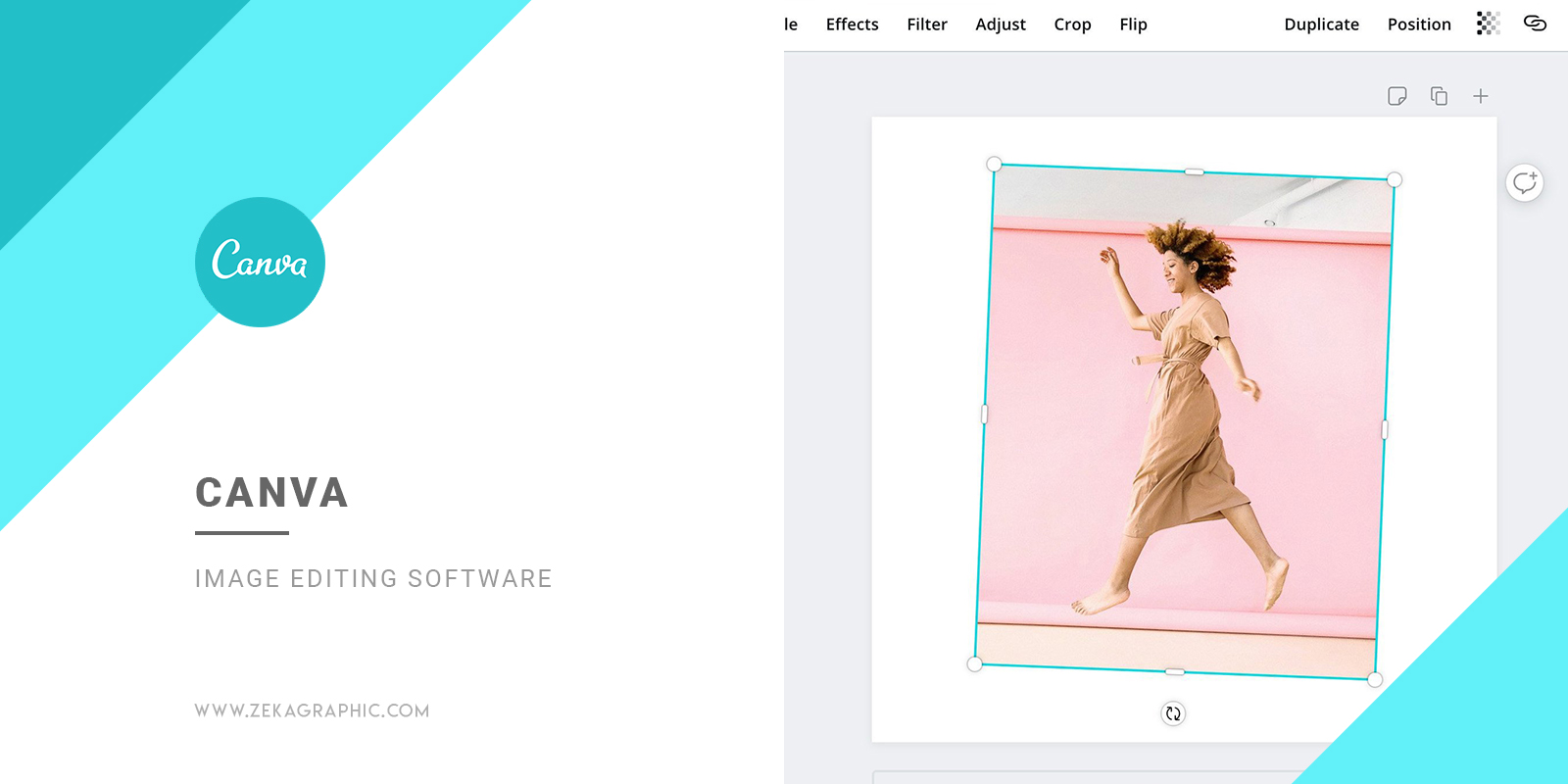 Canva Image Editing Software for Graphic Design