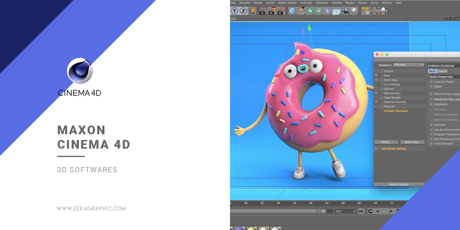 Cinema 4D 3D Software for Graphic Design