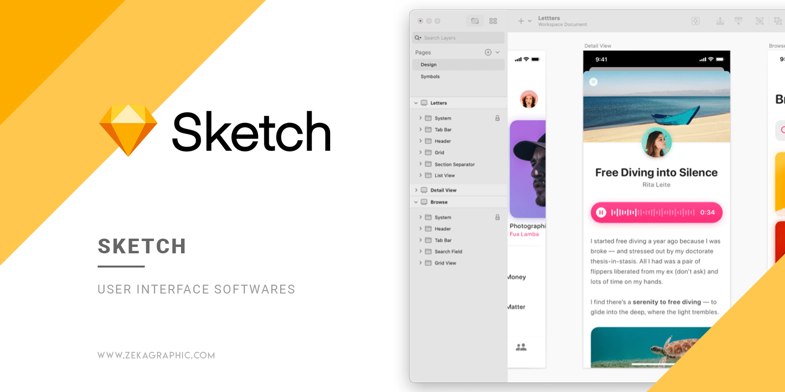 Sketch User Interface Software for Graphic Design