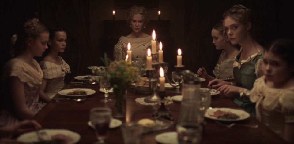 The cast of THE BEGUILED (2017), including Nicole Kidman and Elle Fanning