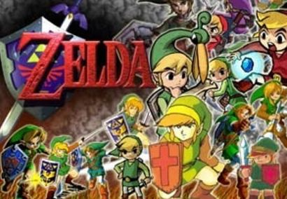 A collage of the Zelda series
