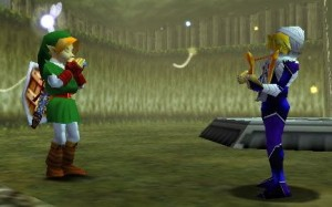 Link and Sheik play the Minuet of Forest