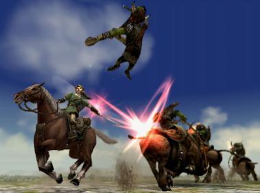 Horse battles