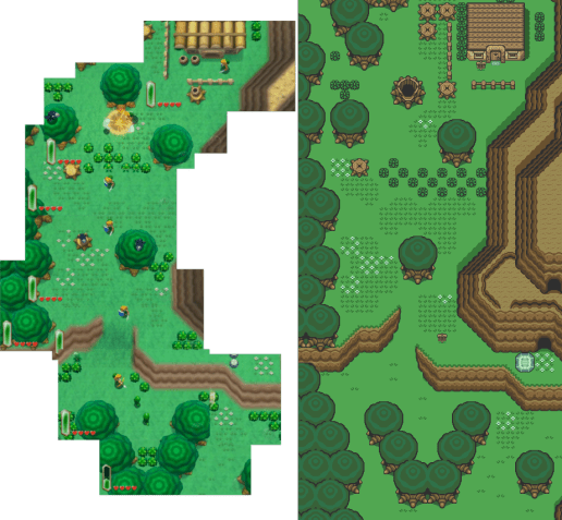 A Link to the Past Overworld Comparison