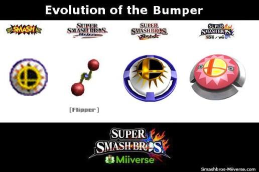 Super Smash Bros. 4 - Bumper comparison