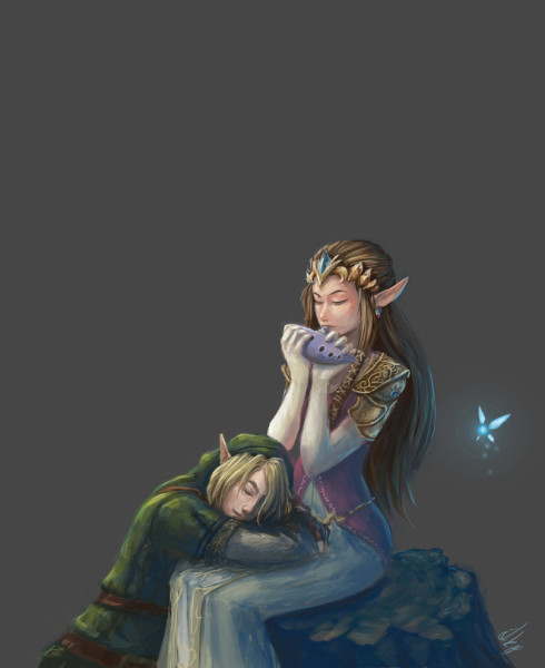 zelda_and_link_by_eshiraart-d7k23ds