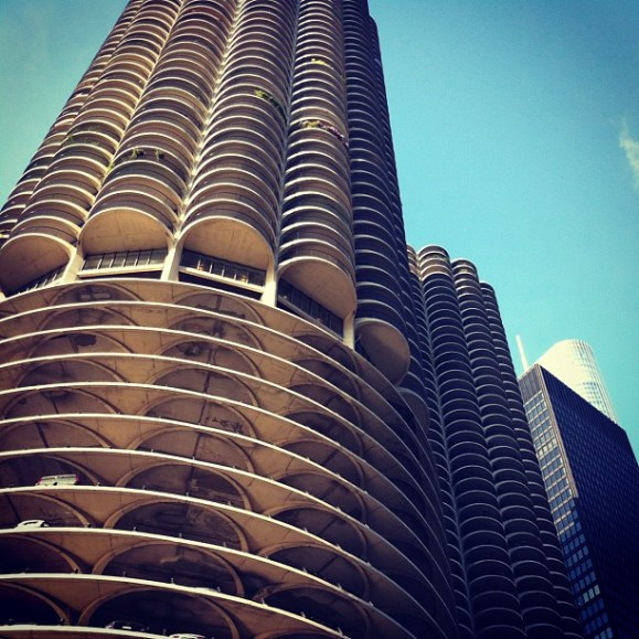 Marina City, Chicago, IL, USA. Part of a photo set by Jeffrey Zeldman.
