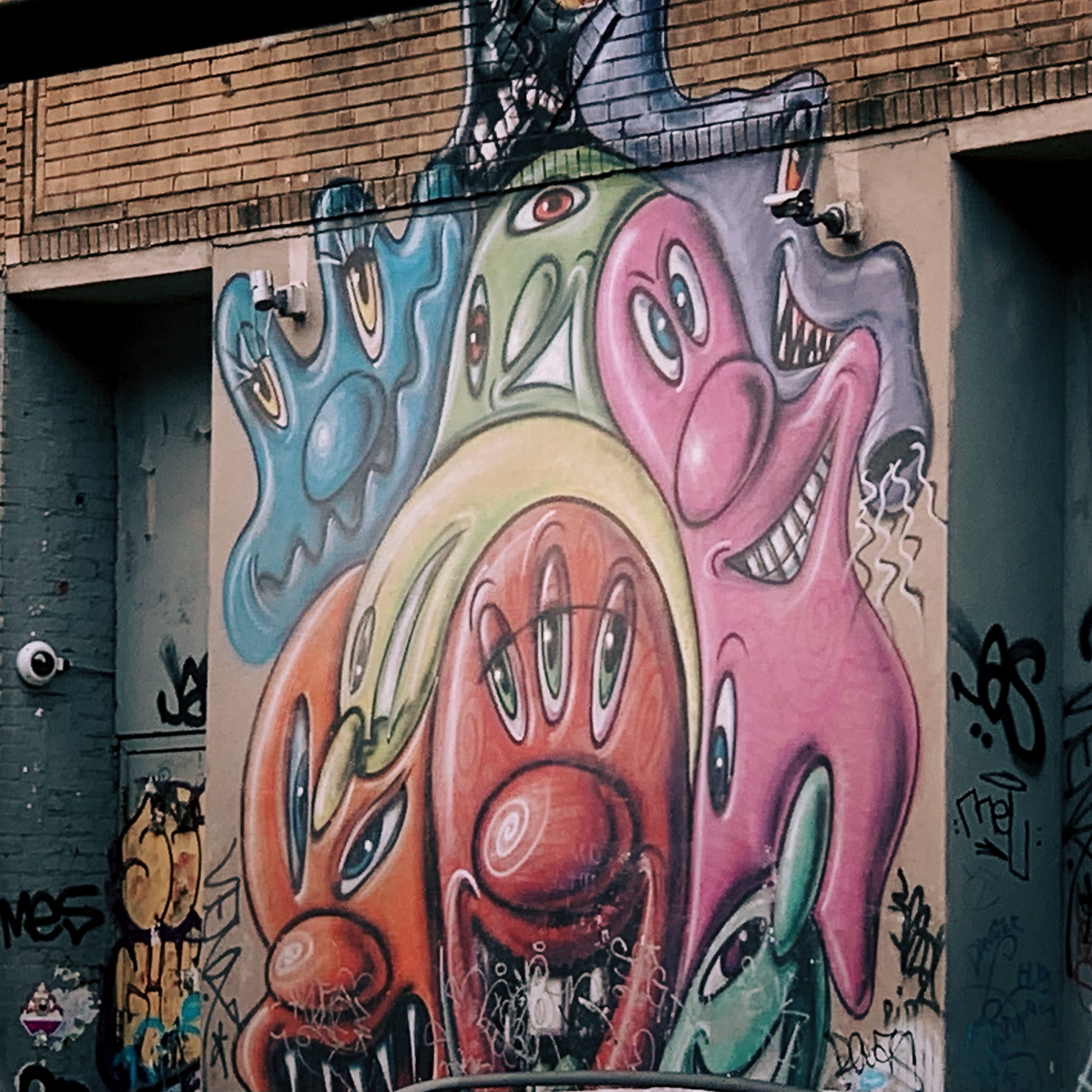 Mural on a Lower East Side Garage.