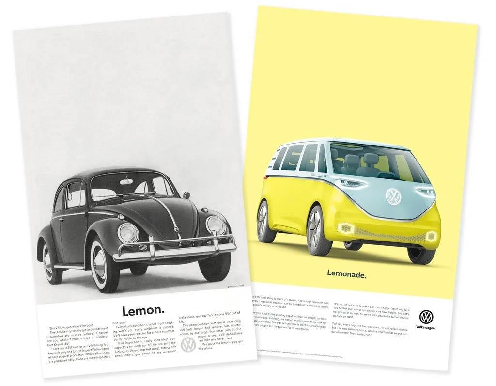 Classic Volkswagen advertising.