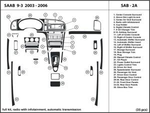 Saab 93 0306 radio with infotainment, auto transmission