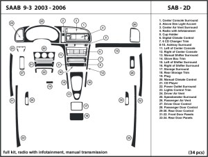 Saab 93 20032006 radio w infotainment manual