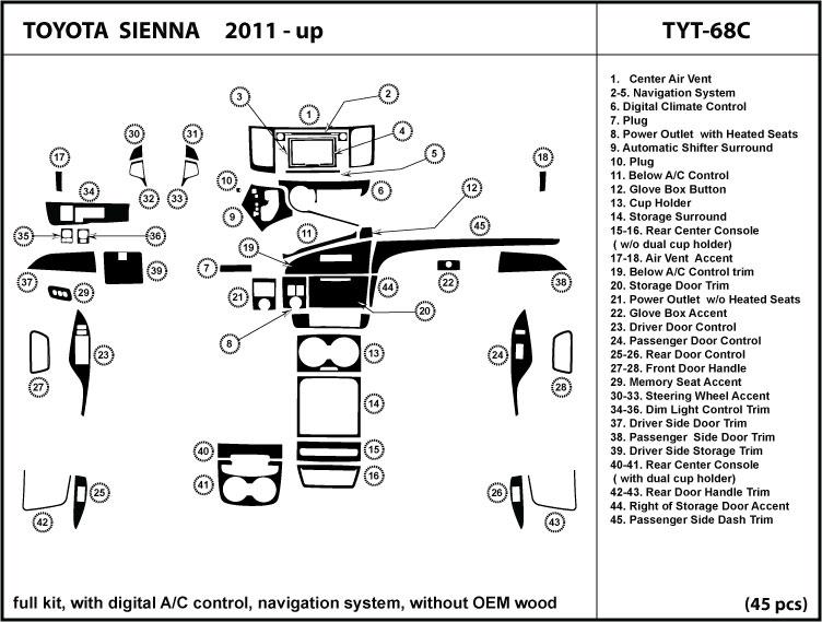 2011 Toyota Sienna Parts Diagram