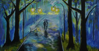 Schilderij van Leslie Allen, gezien op Etsy