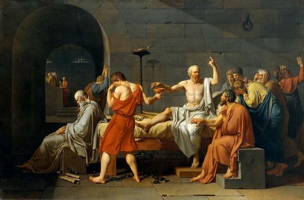 De dood van Socrates Jacques-Louis David