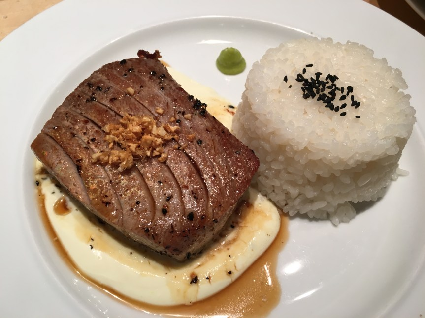 seared Tuna with Creme fraische