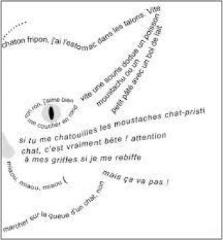 calligramme chat
