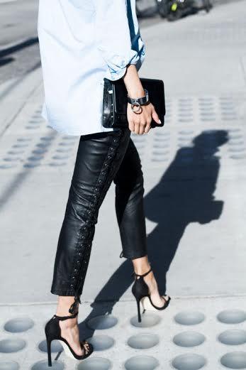 A pantalon cuir