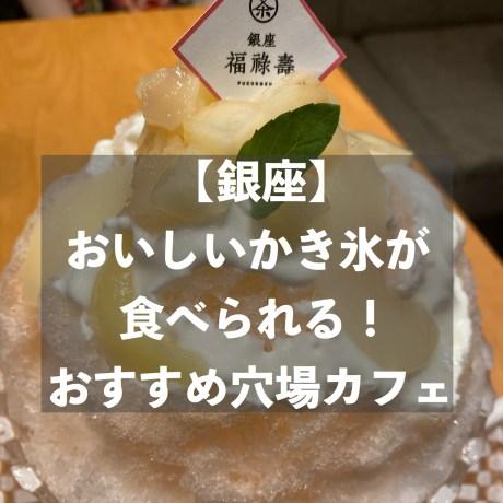 【銀座】おいしいかき氷が食べられる穴場カフェ