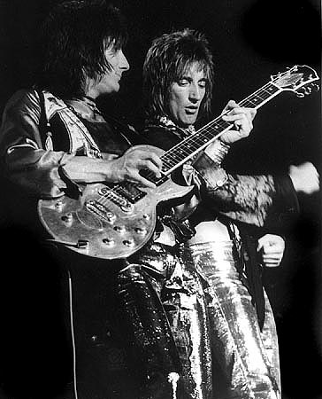 Rod Stewart and Ron Wood
