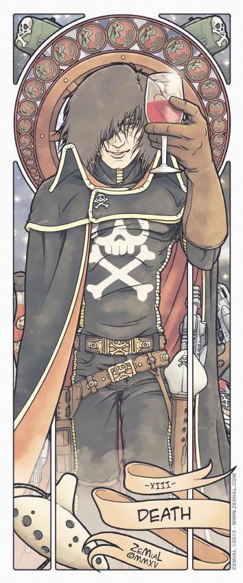 Illustration DEATH représentant le capitaine Albator (Albator)