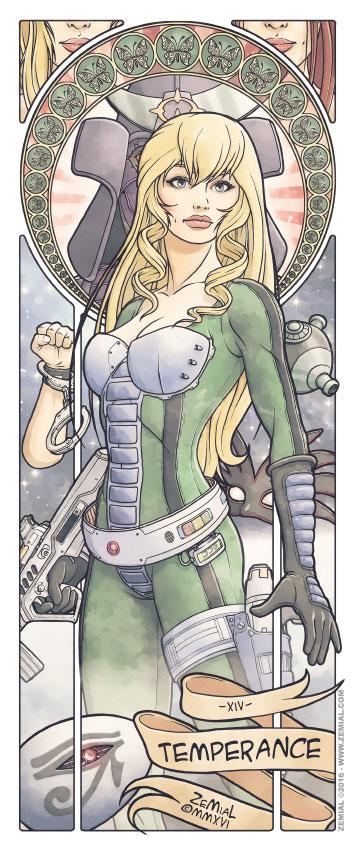 Illustration TEMPERANCE représentant Jane Royal (Cobra)