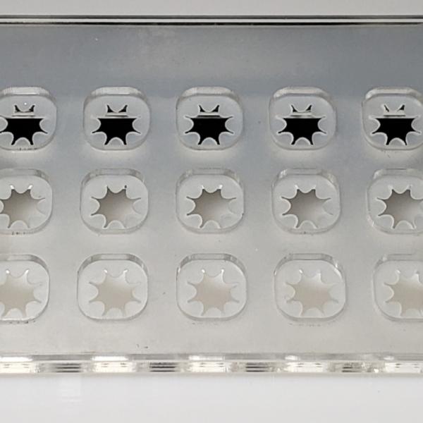 45 hole magnetic frag rack