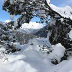 Una passeggiata sulle Dolomiti d'inverno
