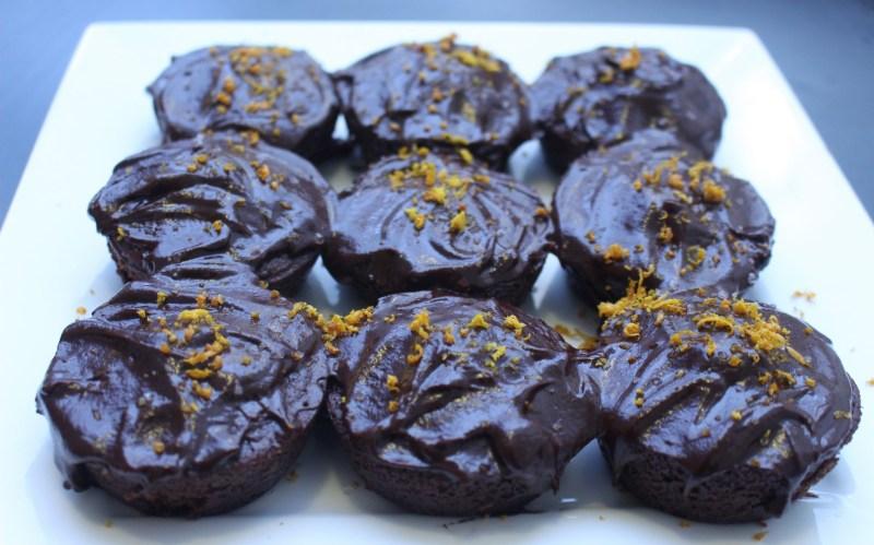vegan blood orange brownies