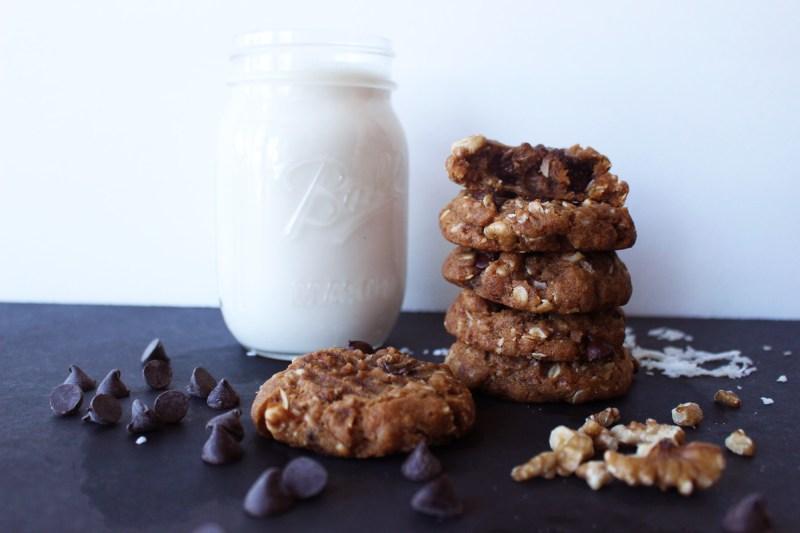 life changing gluten free vegan cowboy cookies chocolate chip recipes food blog zenanzaatar