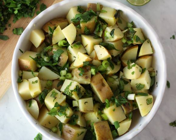 Light Mediterranean Potato Salad (Vegan, Gluten-Free)
