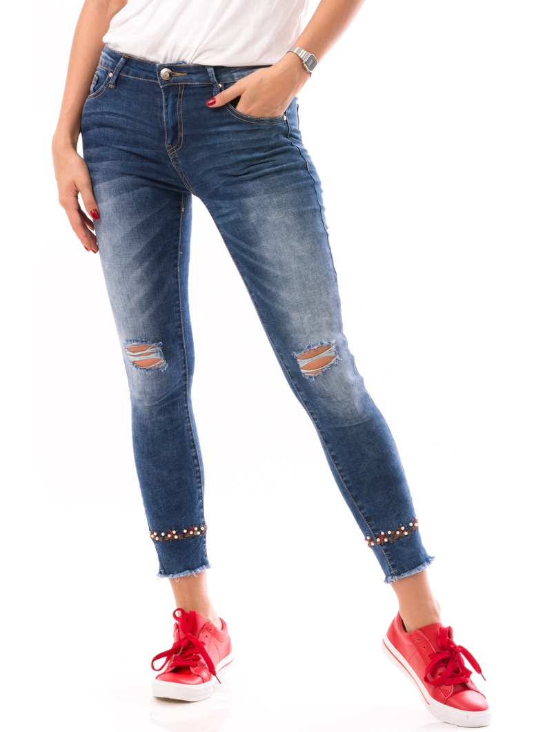 Jeans Dama PearlDown Albastru   zenda.ro