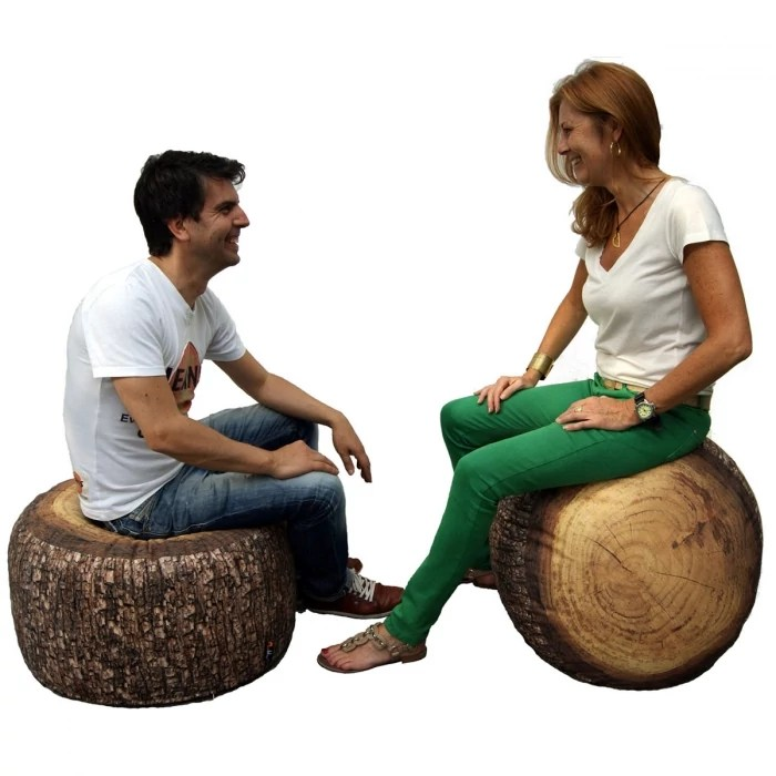 gros pouf design d exterieur forest stump outdoor merowings