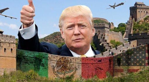 Incredibile Trump: ecco il muro col Messico. Via gli indiani, meglio il Petrolio
