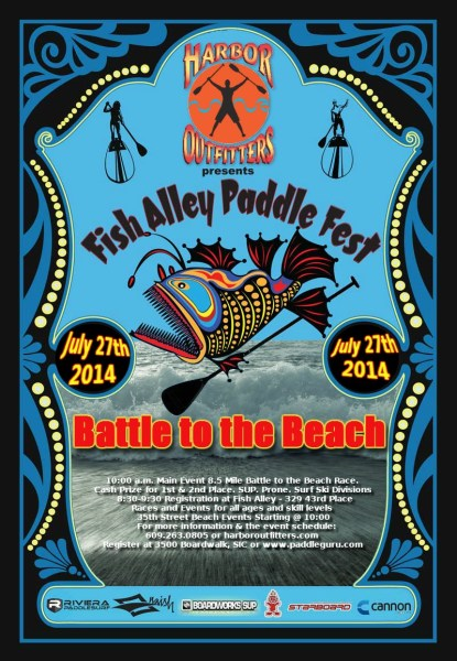Fish Alley battle to the beach poster