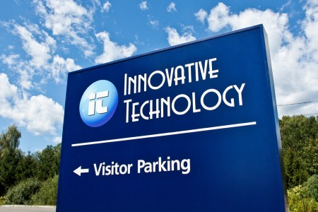 Custom signage for new Innovative Technology building