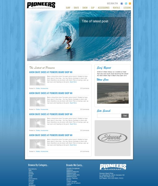 New website design for Pioneers on the WordPress platform
