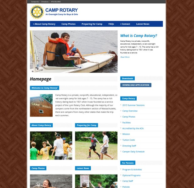 Camp Rotary Responsive Website Design