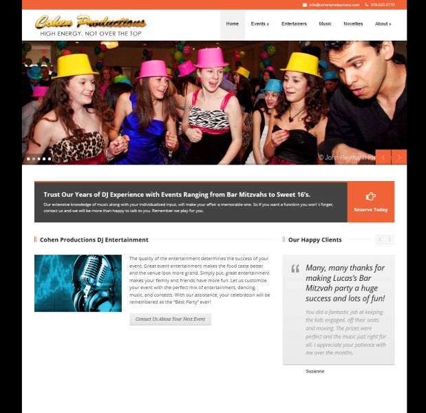 Cohen Productions Responsive Website Design