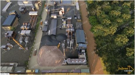 Industrial 3D Render Aerial View
