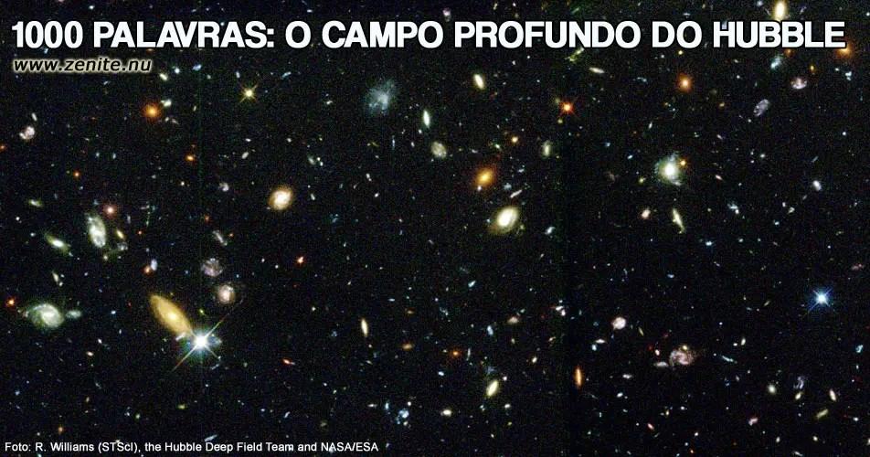 O campo profundo do Hubble