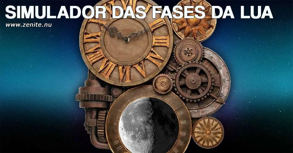 Simulador das fases da Lua