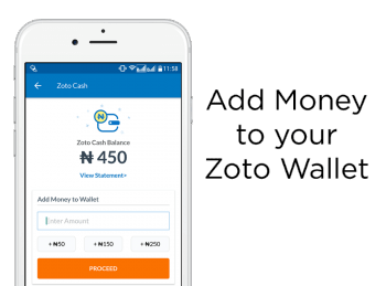 Add naira to your zoto wallet