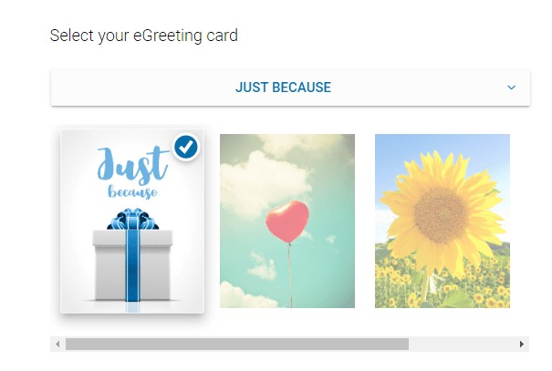 Visa card gift sample