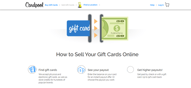 Sell gift cards Online Instantly