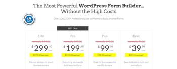 WPForms WordPress Free Forms Builder Pricing