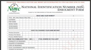 Change of date of birth Forms - National Identity Card Fees