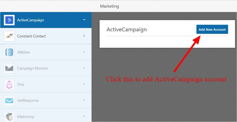 ActiveCampaign with WPForms for email marketing