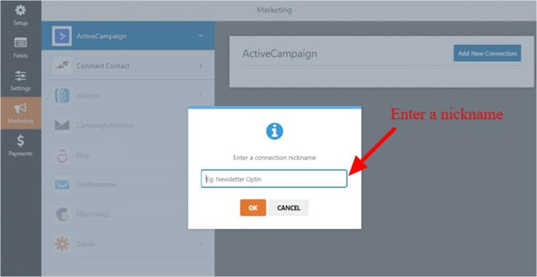 ActiveCampaign set up with wpforms